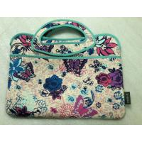 """Wholesale low price ladies 17""""inch neoprene laptop office tote bag with label by zigzag stitching from china suppliers"""