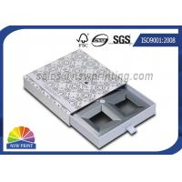 Wholesale Handmade Delicate Rigid Slide Box Silver Cardboard Liners Paper Drawer Box from china suppliers