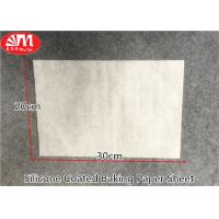 Wholesale Waterproof Silicone Baking Paper Sheets 0.045-0.05mm Thickness Withstand Higher Temp from china suppliers