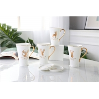 Wholesale Lightweight  250ml Hand Painted Drinking Fine Porcelain Coffee Mugs from china suppliers