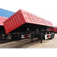 Wholesale 26 Cbm Hydraulic Side Dump Semi Trailer 2 BPW Axles For Sands / Bulk Materials from china suppliers
