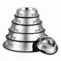 Wholesale Stainless Steel Pet Dog Bowls Feeders from china suppliers