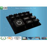 Wholesale Black Key Custom Silicone Keypad / White Silk Screen Print Conductive Rubber Keypad from china suppliers