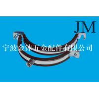 Buy cheap 150 mm Heavy Duty Pipe Clamps With Rubber Lined M8 / M10 Nut Connection from wholesalers