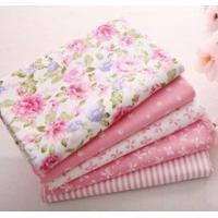 40cm 50cm pink 100 cotton fabric for sewing fat quarter quilting