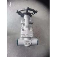 Wholesale SW BW NPT Forged Steel Gate Valve A105N F11 F304 F316L 3/4IN Oem Service from china suppliers