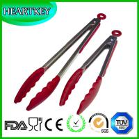 Wholesale Kitchen Tongs Stainless Steel with Silicone Tips Non-Toxic Food Grade Non-Slip Handles Wide Non-Scratch Clam Shell Head from china suppliers