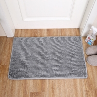 Wholesale Grey Fluffy 24''x38'' Microfiber Bathroom Mats Super Water Absorption from china suppliers