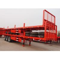 Wholesale 13m flat bed semi trailer tri-axle container trailer low price from china suppliers