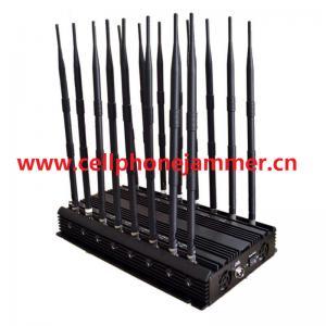 All signals jammer - Adjustable 14 Antennas Powerful GSM 3G 4G Phone Blocker & WiFi UHF VHF GPS Lojack All Phone Bands Signal Jammer