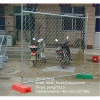 Wholesale Hot sale temporary chain link fence panels with clamps and bases from china suppliers