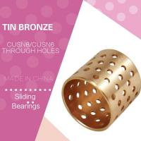 Wholesale Distributed Lubrication Oil Holes Wrapped Bronze Bearings CuSn8 CW453K 092 Easy Assembly from china suppliers