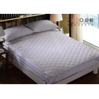 Wholesale Machine Washable Hotel Mattress Protector White Color 100% Cotton Material from china suppliers