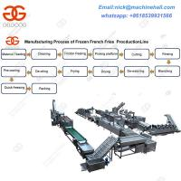 Wholesale Full-automatic Frozen French Fries Processing Line/Factory Frozen French Fries Making Line from china suppliers