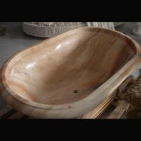 Wholesale Home deocration pink marble bathtub with polish surface for bathroom,china sculpture supplier from china suppliers