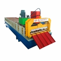 China Color Coated Sheet Standing Seam Panel Roof Tile Roll Forming Machine on sale