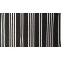 "Wholesale 62"" / 63"" Black And White Striped Upholstery Fabric / Ponte Roma Knit Fabric from china suppliers"