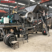 Buy cheap Trailer Mounted Portable Mobile Diesel Engine Stone Jaw Crushing Crusher Station from wholesalers