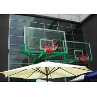 Wholesale Replacement Curved Sheet Basketball Goal Glass Backboard 8mm / 10mm , Light Blue from china suppliers