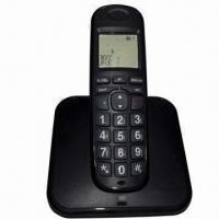 Wholesale LCD Cordless Telephone with Phone Book, White LCD Backlight Color from china suppliers