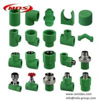China Chinese factory plastic water pipe connectors green Din standard ppr pipe fittings on sale
