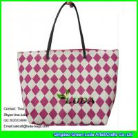 Wholesale LUDA red beach women handbags paper straw fashion bags from china suppliers