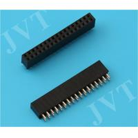 China Dual Row 1.27mm Pitch SMT Female Pin Header With Cap Polyester Housing wholesale