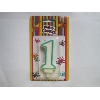 Quality Fancy Number Birthday Candles Paraffin Wax Material Environmental friendly for sale