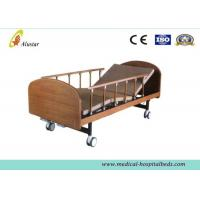 """Wholesale Medical Wooden Medical Hospital Beds Double Cranks With 4pcs 4"""" Noiseless Castors ( ALS-HM002) from china suppliers"""