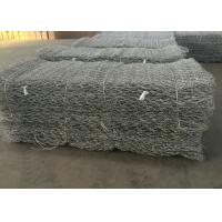 Wholesale Hot Dipped Galvanized Gabion Wall Mesh / Stone Cage Wire Mesh Customized from china suppliers