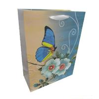 Wholesale Custom shopping Film lamination, Embossing flower paper Personalized Christmas Gift Bags from china suppliers
