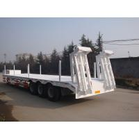 Wholesale 3 Axle 60 Ton Low Bed Semi Trailer , Heavy Duty Flatbed Trailer With Mechanical Suspension from china suppliers