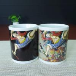 China LUFFY milk tea drinking color changing magic coffee mug AB/ABC wholesale