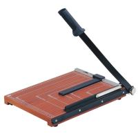 China Wooden Base Guillotine Manual Paper Cutter 12 Sheets Cutting Capacity wholesale