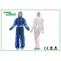 Wholesale Hooded Disposable Protective Coverall With Elastic Wrist / Ankle / Waist,with feetcover or without feetcover from china suppliers