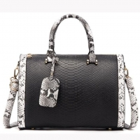 Wholesale Womens Snake Print Versatile PU Shoulder Pillow Bag from china suppliers
