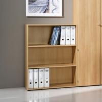 Wall Mounted 2 Shelf Wooden Cube Bookcase For Small Places , Kids Room