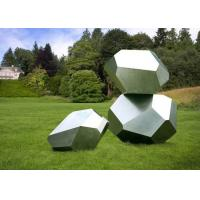Wholesale Stainless Steel Garden Sculptures Sandblasting Square Decoration from china suppliers