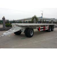 Wholesale Steel Container 20 Foot Flatbed Trailer With Draw Bar Pulling And Three Axles from china suppliers