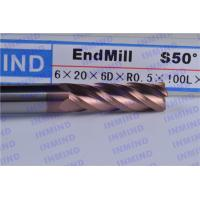 Wholesale HRC65 high hardness  Long shank Corner Radius end mill  4 Flute SiN TiSiN Coating 4mm - 12mm from china suppliers