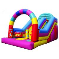 Quality Colorful Big Party Teens Arch Large Inflatable Slide Digital Printing Fireproof for sale