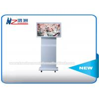 "42"" Indoor Floor Standing Digital Advertising Kiosk Rotating LCD Player Android Monitor"