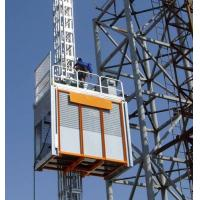 Wholesale Painted Material Small Electric Hoist For Construction , Single Cage from china suppliers