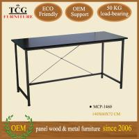 modern designed iron frame computer desk for two computers on sale