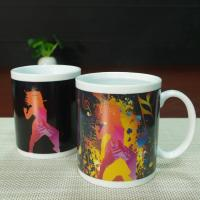 China Customized printing black mr thief color changing heat senstive mug cup wholesale