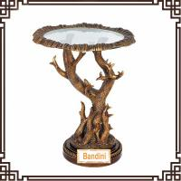Buy cheap Spanish countryside style resin round antique finishing living room side table from wholesalers