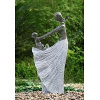 """China Happy Moment Statue Water Fountains , 47"""" Handcrafted Garden Statue Fountains wholesale"""