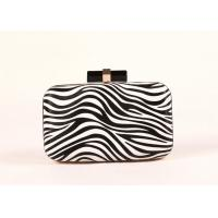 Luxury Black And White Colored Evening Clutch Bags Fashion Leather Material