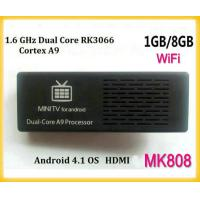 Wholesale New mk808 Dual Core RK3066 Android 4.1 Google TV BOX, Cortex A9 Mali400 GPU WiFi HDMI Android USB PC from china suppliers