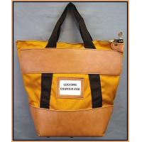 Wholesale Orange 7 - pin Locking Canvas Bank bag with Hand grip , locked deposit bags from china suppliers